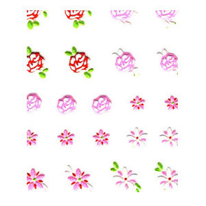3D Nail Art Stickers Multi 016