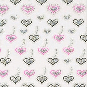 3D Glitter Nail Art Sticker 86292 Hearts