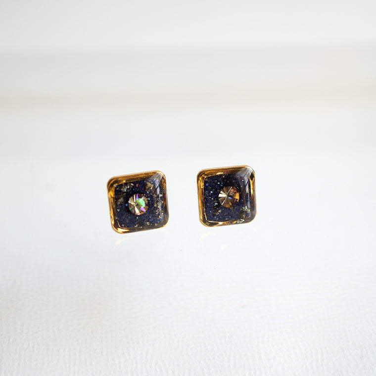 Galaxy Square Earrings