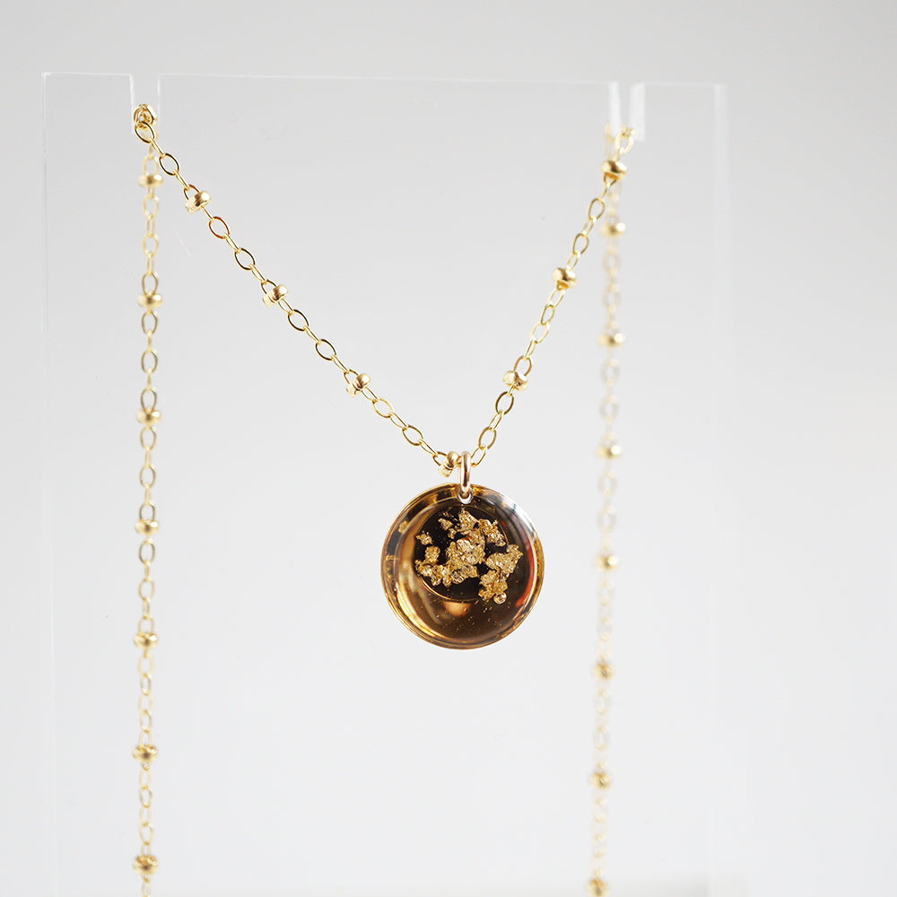 Black and Gold Eclipse Necklace