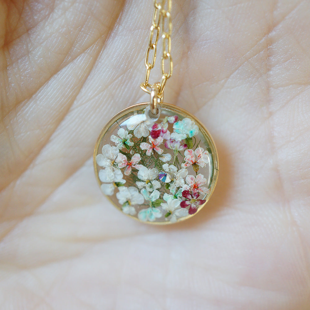 Large Circle Flower Necklace
