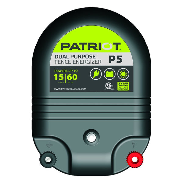 Patriot P5 Dual Purpose Fence Charger (12V/110V) - Fencing Patriot - Canada
