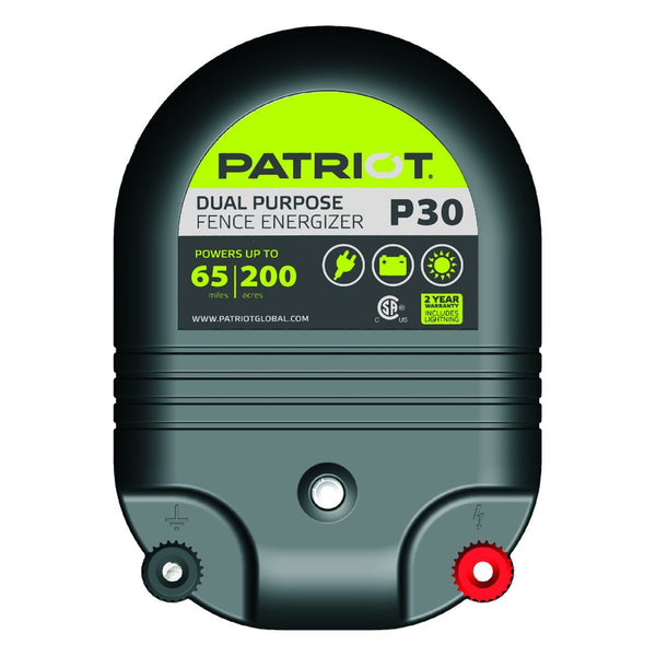 Patriot P30 Dual Purpose Fence Charger (12V/110V) - Fencing Patriot - Canada