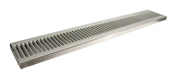 "Stainless Steel Surface Mount with Drain Drip Tray - 30"" x 5"" x 3/4"""
