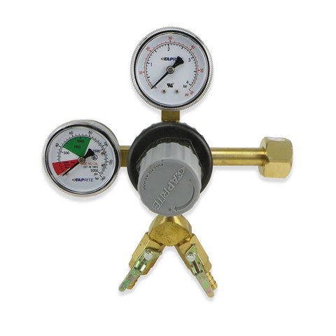 Primary Dual Outlet CO2 Regulator (60 & 2000PSI) #T742-2 - Canadian Homebrewing Supplier - Free Shipping - Canuck Homebrew Supply