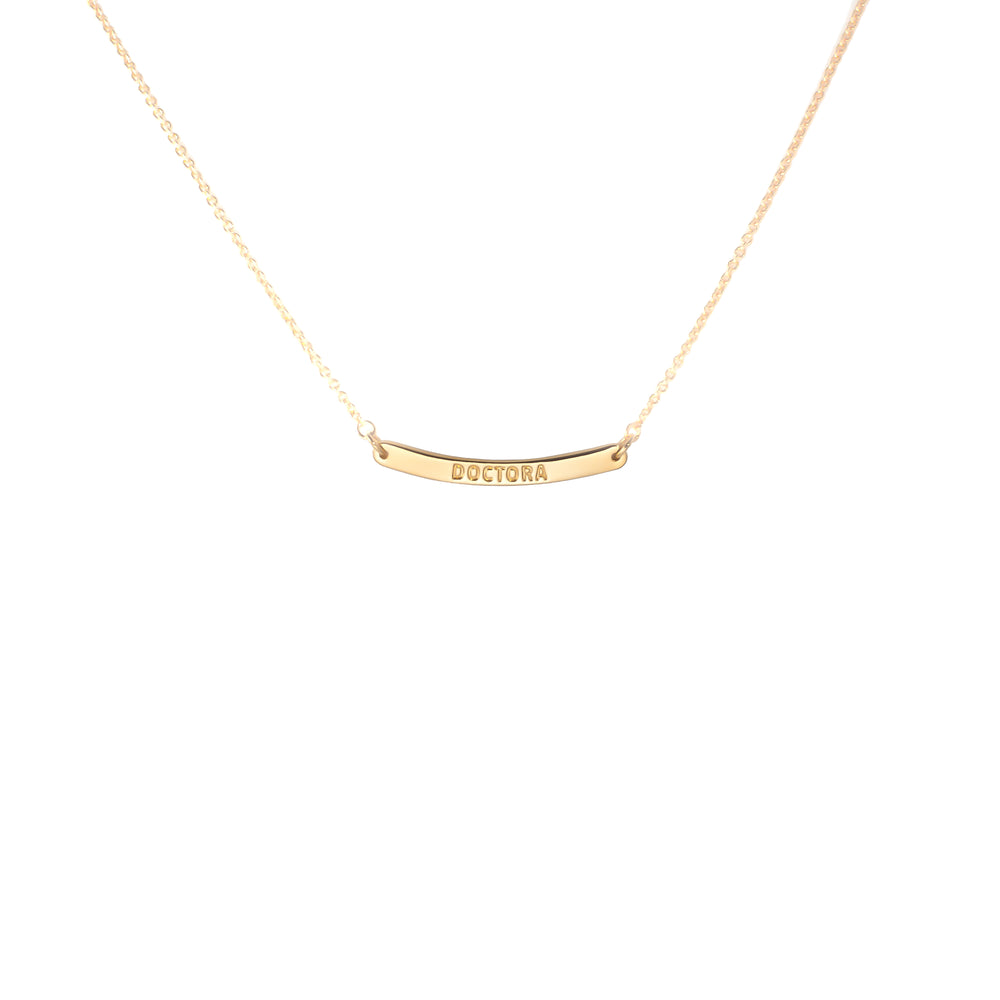 Curved Bar Necklace Doctora