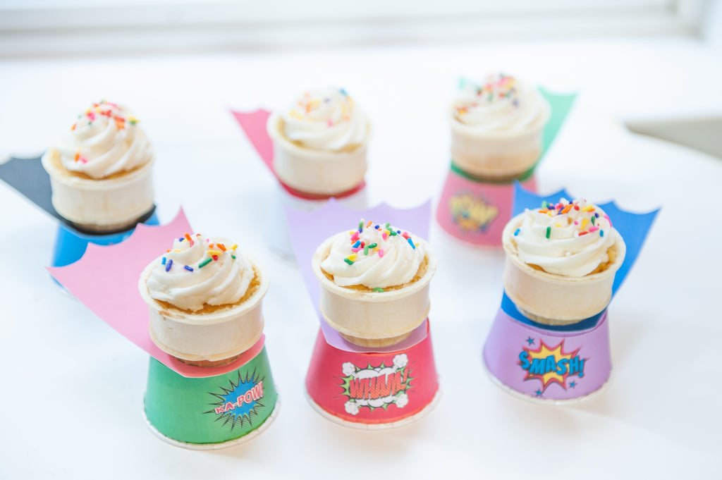 Have a SUPER year! Cone Cakes