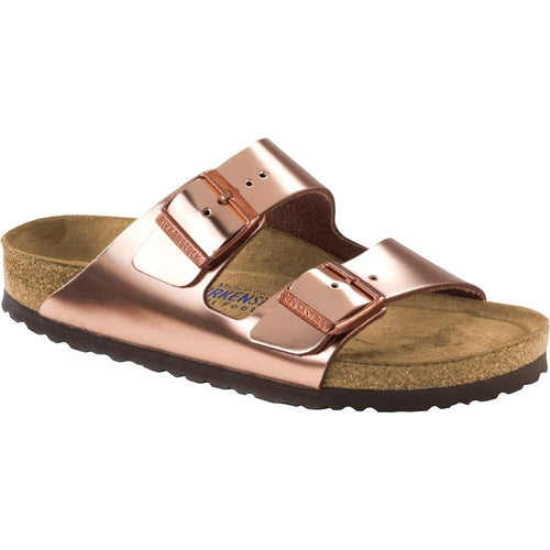 ARIZONA METALLIC COPPER LEATHER NARROW SOFT FOOTBED - getset-footwear