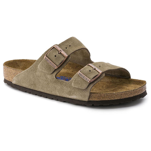 ARIZONA TAUPE SUEDE NARROW SOFT FOOTBED - getset-footwear