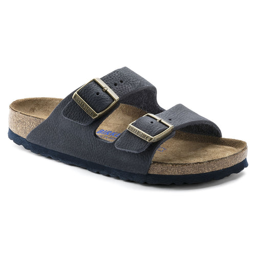 ARIZONA STEER INDIGO NUBUCK LEATHER NARROW SOFT FOOTBED - getset-footwear