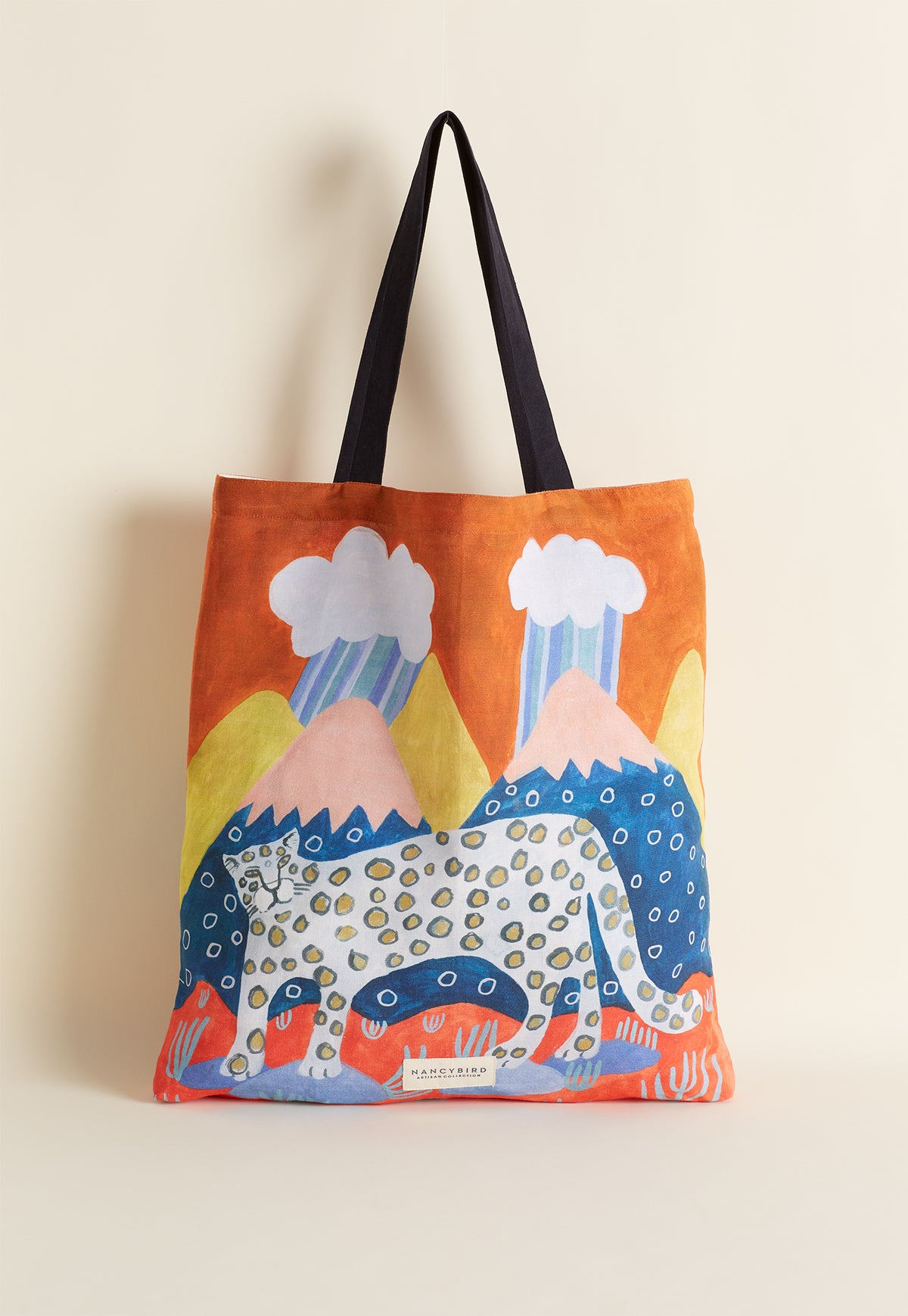 Fabric Tote - Snow Leopard