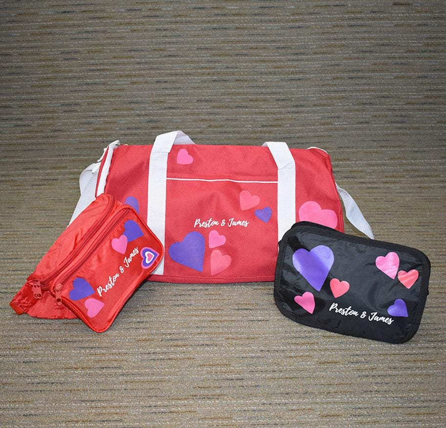 Hearts Travel Bag