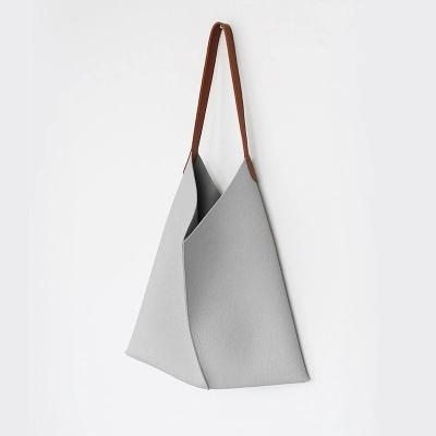 Soft PU Leather Crossbody Tote Bag | Minimalist Tote Bag