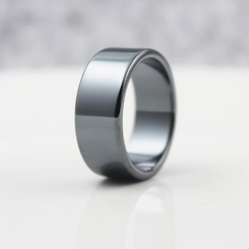 Fashion Jewelry Grade AAA Quality smooth 10mm Width Flat Hematite Rings (1 Piece)  HR1009, , Gifts for Designers, Clean minimal gifts for designers and creatives, gift, design, designer - Gifts for Designers, Gifts for Architects