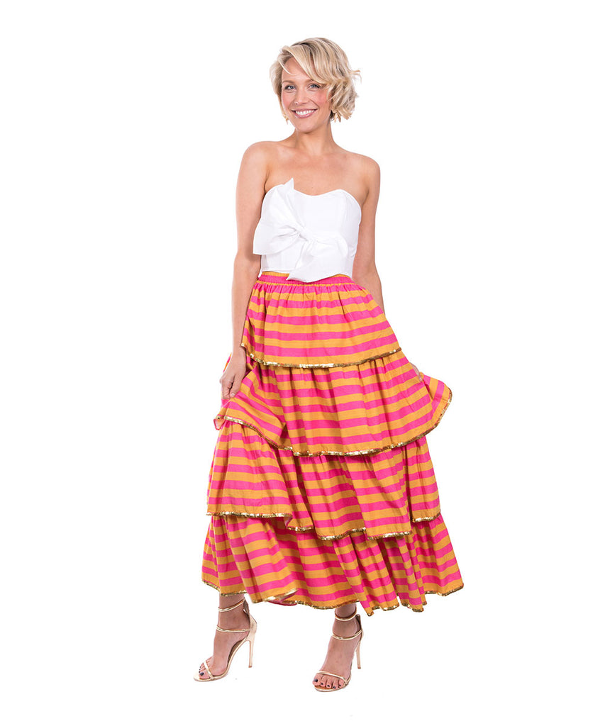 The Janpath Ruffle Skirt by Bonita Kaftans