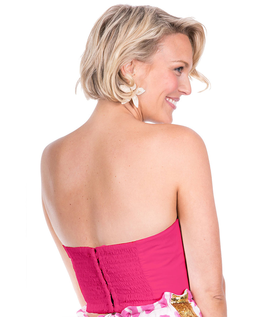 The Magenta Bow Bustier