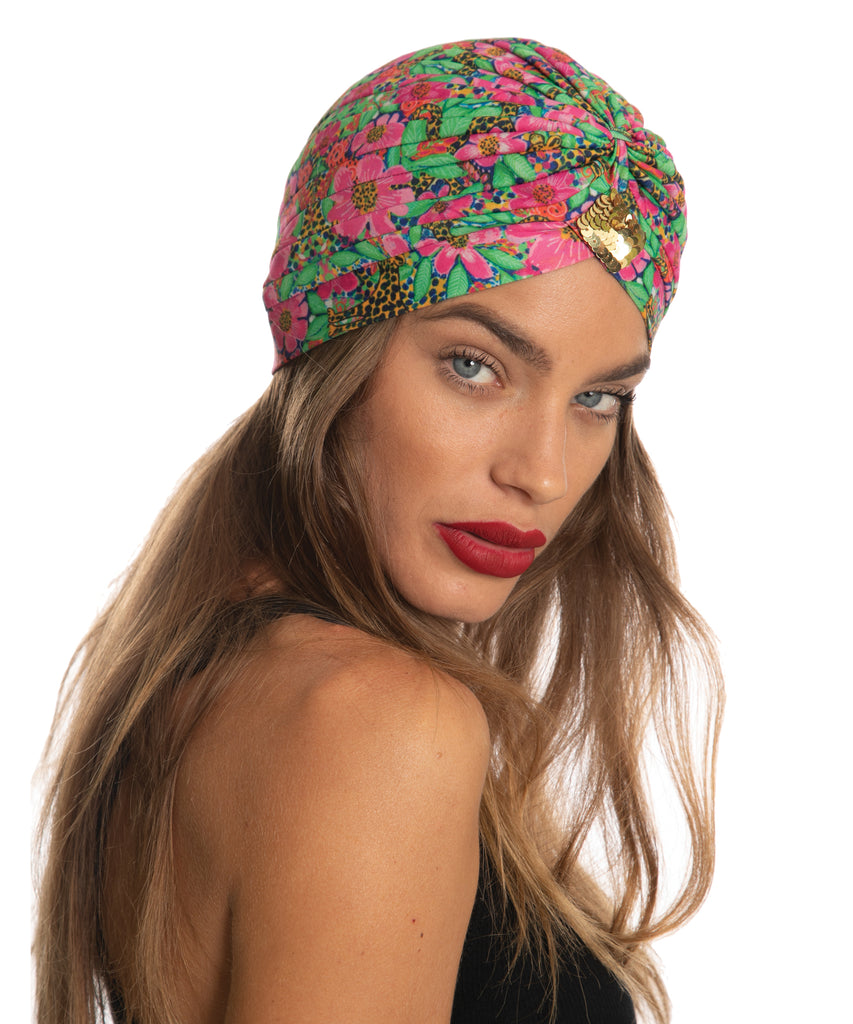 The Floral Cheetah Turban by Bonita Kaftans