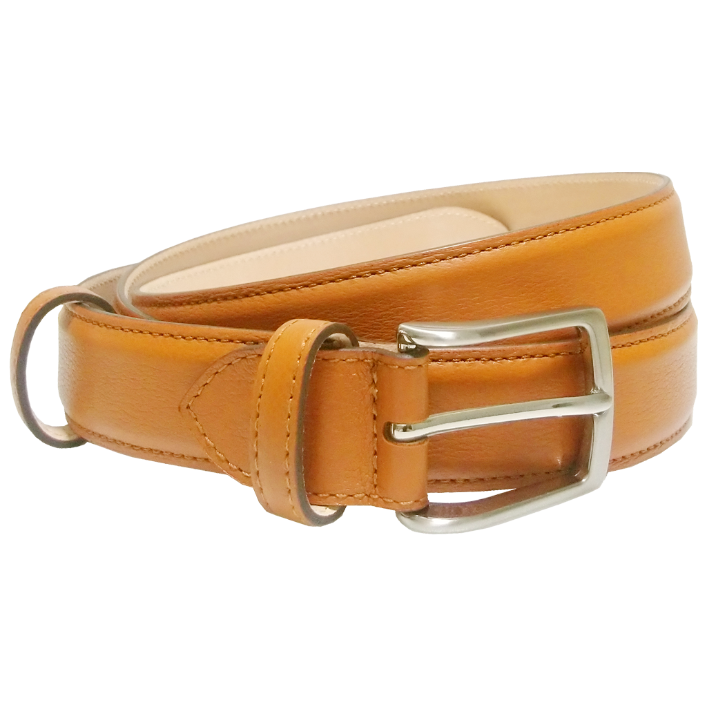 30 mm Sartorial Fine Grain Leather Belt Tan-Mens Belts-72 Smalldive