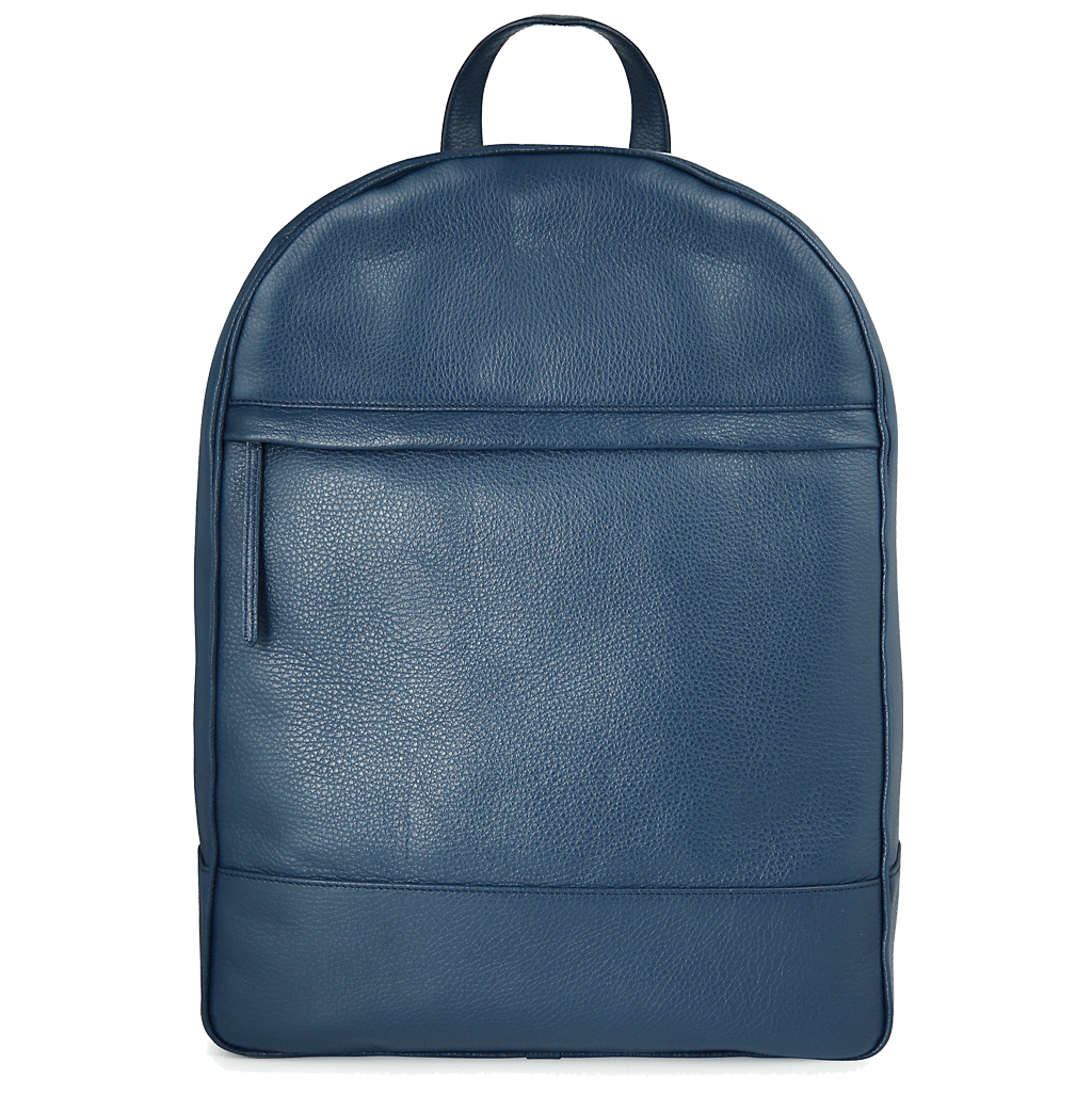 Grained Calf Leather Rucksack Blue-Bags-72 Smalldive