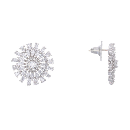 BELMIRA DROP EARRING-RHODIUM