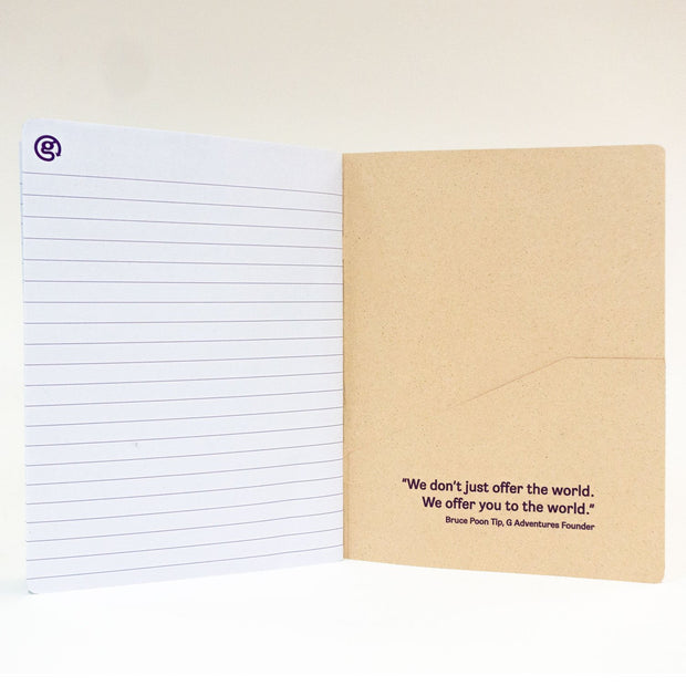 Recycled Folder Notebook