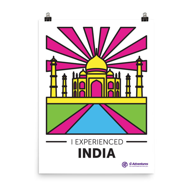 India Rays Poster