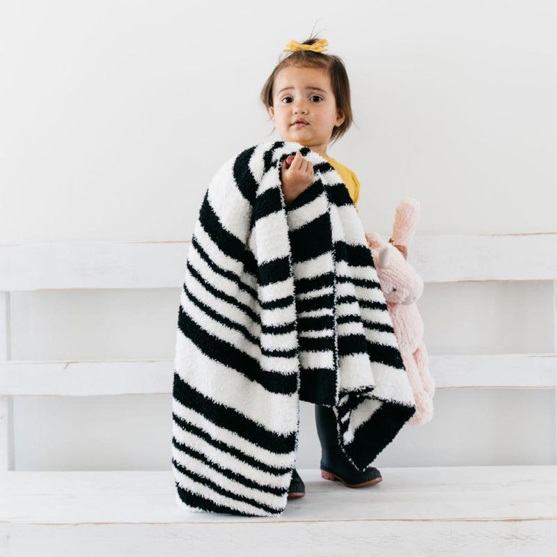 Black & White Double-Layer Bamboni Receiving Blanket