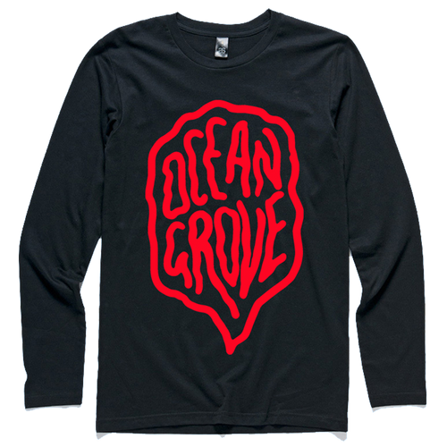 Red Letter Longsleeve Tee (Black)