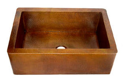 "Copper Farmhouse Kitchen Sink Single Bowl( 22"" to 36"" Various Colors, #CFS)"