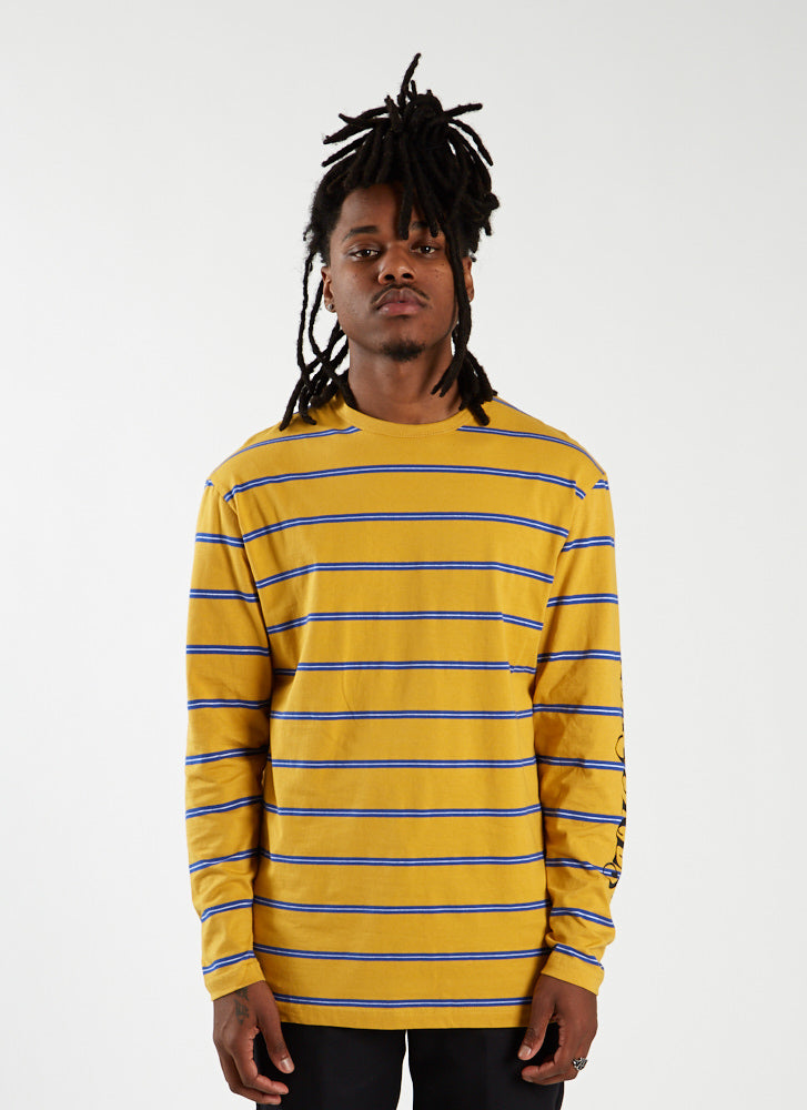 Scream Striped Longsleeve - Mustard