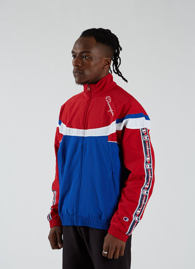 Poly Full Zip Track Top - Red