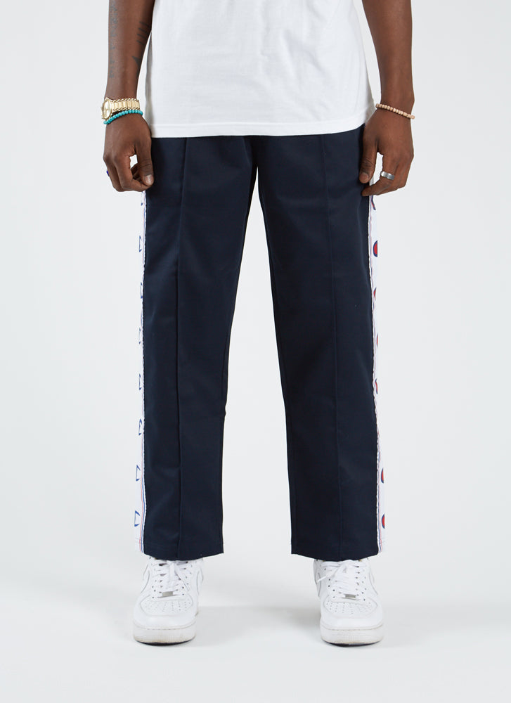 Straight Hem Pants - Navy
