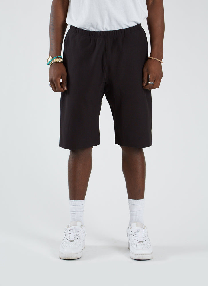 RW Terry Raw Edge Short - Black