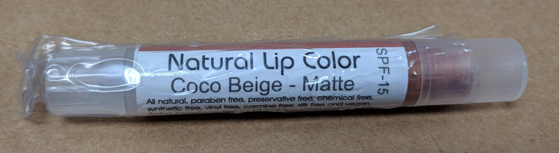 Bella Mari Natural Lip Color; 0.1floz - Bella Mari Natural Lip Color; 0.1floz - Coco Beige Matte