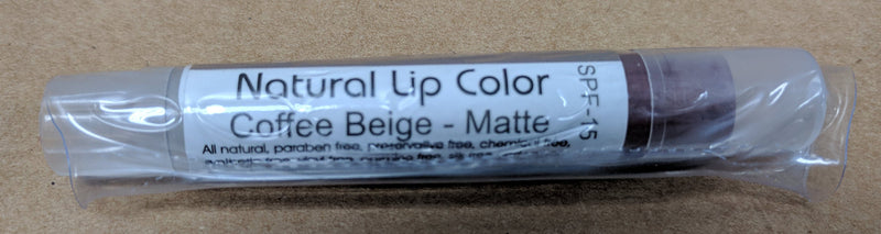 Bella Mari Natural Lip Color; 0.1floz - Bella Mari Natural Lip Color; 0.1floz - Coffee Beige Matte