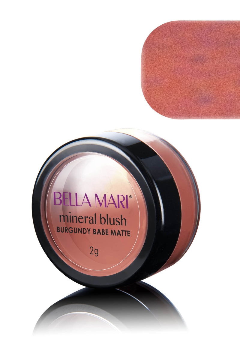 Bella Mari Natural Mineral Blush - Bella Mari Natural Mineral Blush - 0.1oz Burgundy Babe Matte