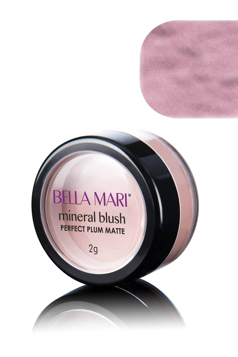 Bella Mari Natural Mineral Blush - Bella Mari Natural Mineral Blush - 0.1oz Perfect Plum Matte