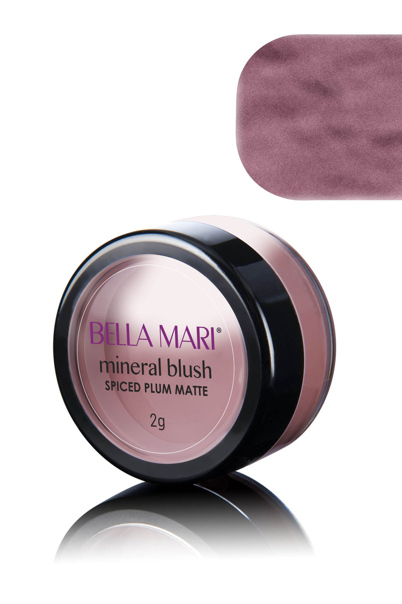 Bella Mari Natural Mineral Blush - Bella Mari Natural Mineral Blush - 0.1oz Spiced Plum Matte