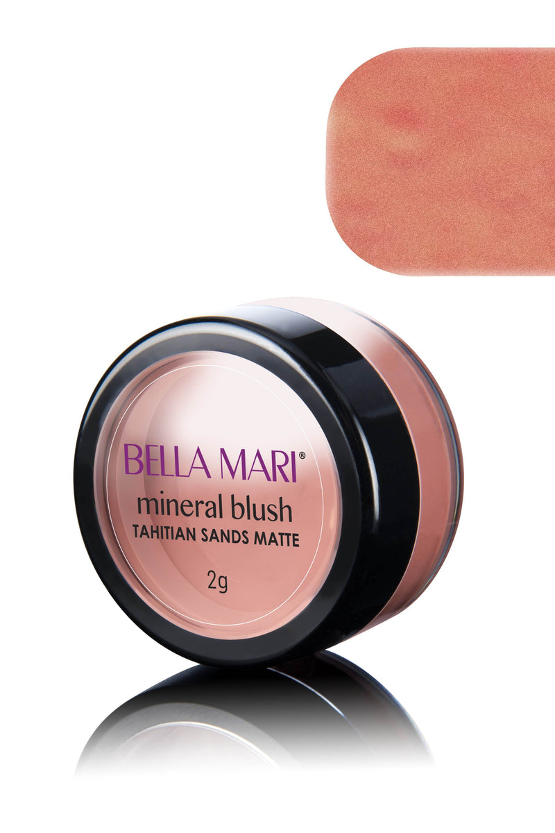 Bella Mari Natural Mineral Blush - Bella Mari Natural Mineral Blush - 0.1oz Tahitian Sands Matte
