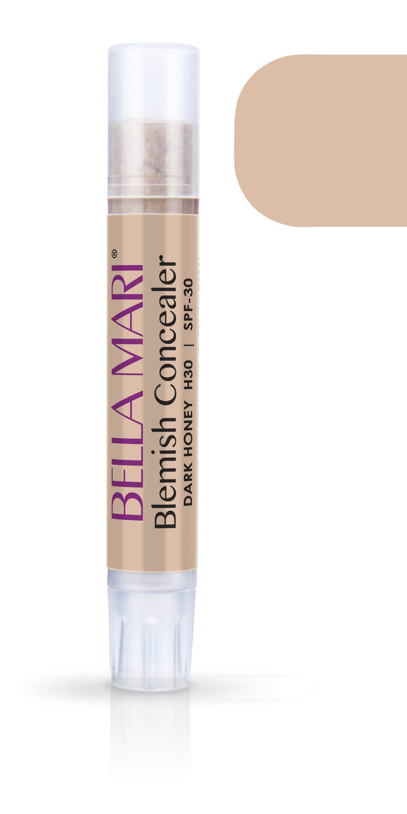Bella Mari Natural Blemish Concealer Stick; 0.1floz - Bella Mari Natural Blemish Concealer Stick; 0.1floz - Dark Honey