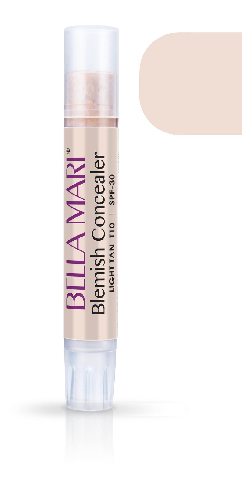Bella Mari Natural Blemish Concealer Stick; 0.1floz - Bella Mari Natural Blemish Concealer Stick; 0.1floz - Light Tan