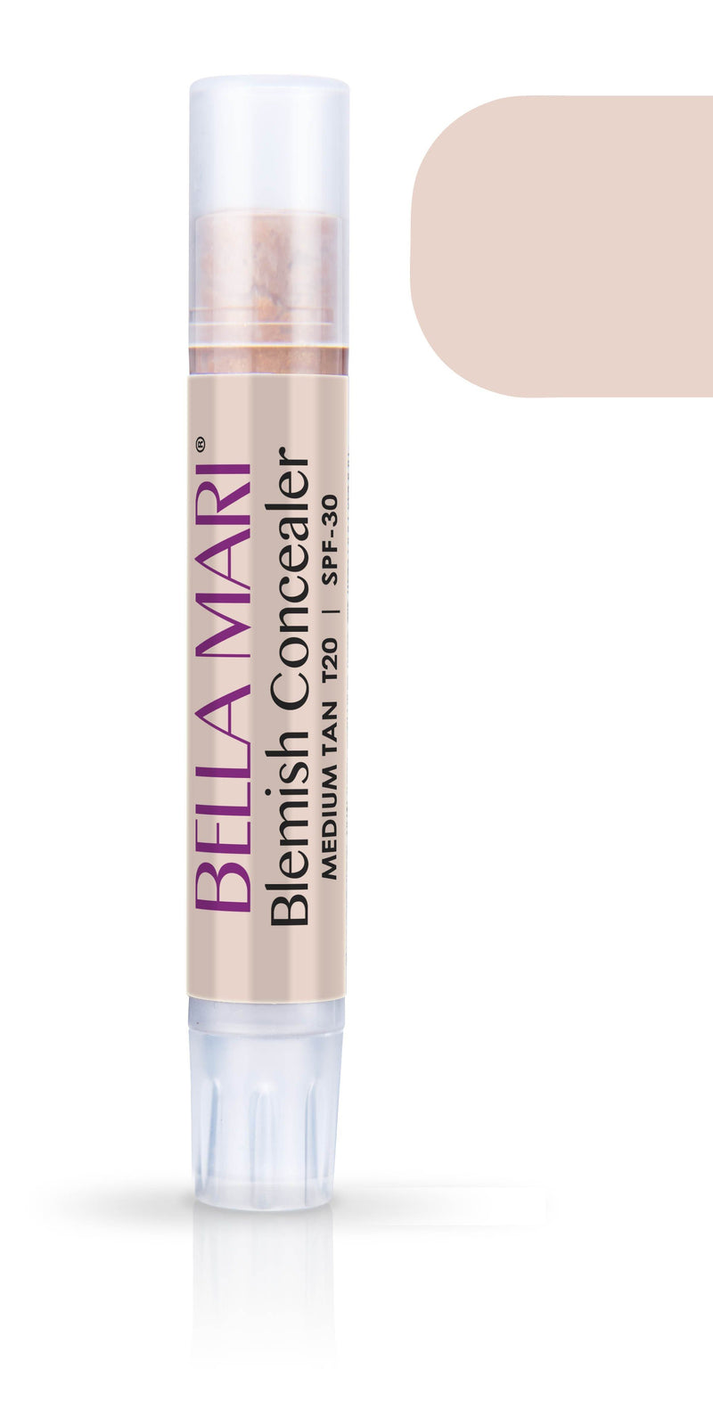Bella Mari Natural Blemish Concealer Stick; 0.1floz - Bella Mari Natural Blemish Concealer Stick; 0.1floz - Medium Tan