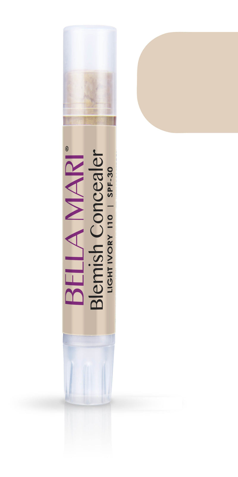 Bella Mari Natural Blemish Concealer Stick; 0.1floz - Bella Mari Natural Blemish Concealer Stick; 0.1floz - Light Ivory