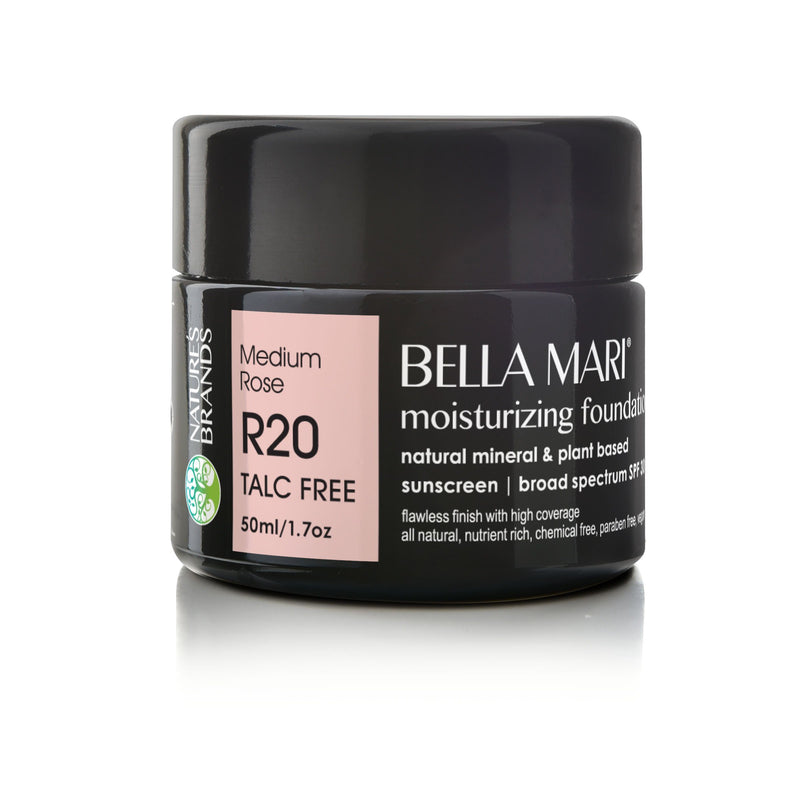 Bella Mari Natural Moisturizing Foundation - Bella Mari Natural Moisturizing Foundation - 1.7floz Medium Rose