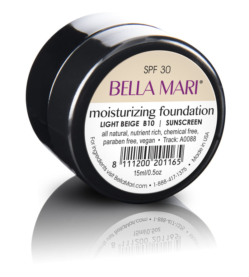 Bella Mari Natural Moisturizing Foundation - Bella Mari Natural Moisturizing Foundation - 0.5floz Light Beige