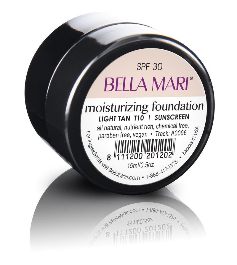 Bella Mari Natural Moisturizing Foundation - Bella Mari Natural Moisturizing Foundation - 0.5floz Light Tan
