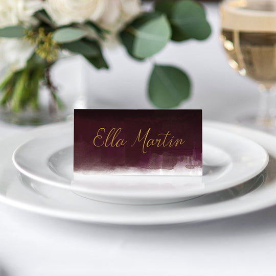 Luxe Watercolour Place Card