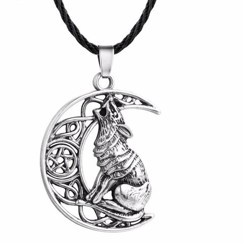 Money Wolf Celti Moon Viking Odin Dog Necklace & Pendant - babiesrhere