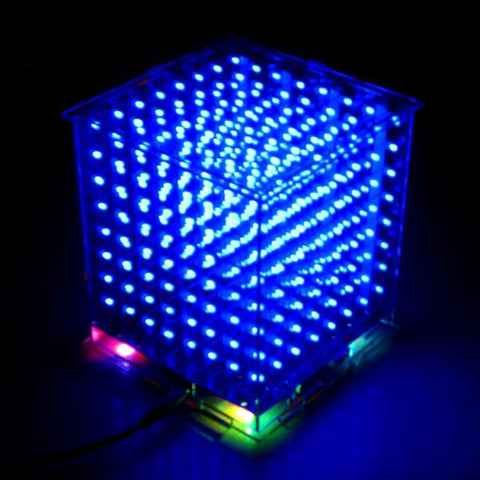 3D 8S 8x8x8 mini led electronic light cubeeds diy kit for Christmas Gift/New Year gift - babiesrhere