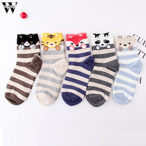 Unisex Casual 1 Pair Cotton Socks Tiger Animal Character Print Socks Gift - babiesrhere